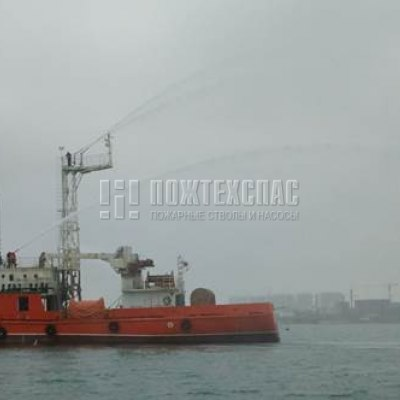 Применение лафетных стволов на морских суднах