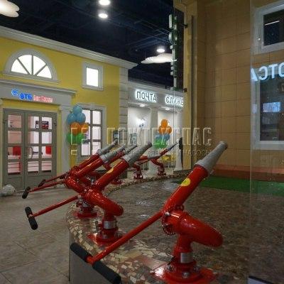 Применение лафетных стволов в детских тематических центрах