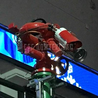 Роботизированная установка пожаротушения в самолетных ангарах