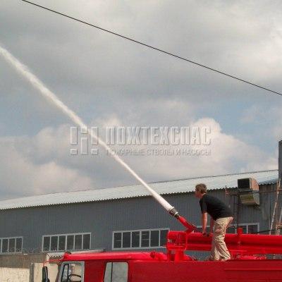 Лафетный ствол для пожарного автомобиля