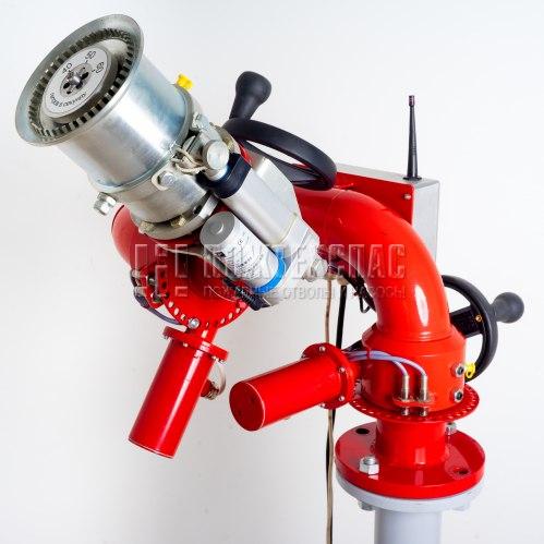 Лафетный пожарный ствол ЛСД-С20У с дистанционным управлением