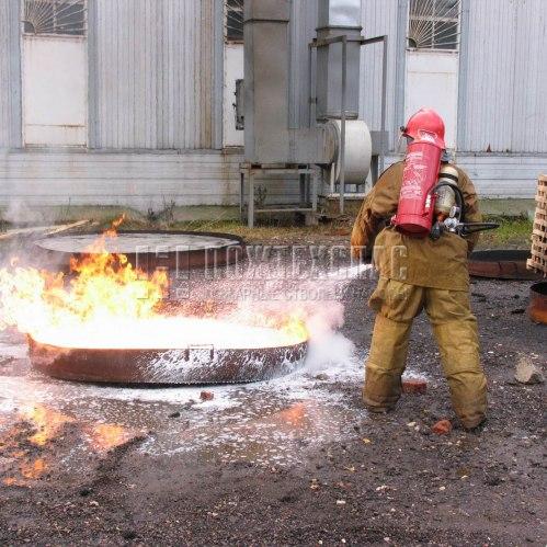 испытания ранцевого устройства пожаротушения