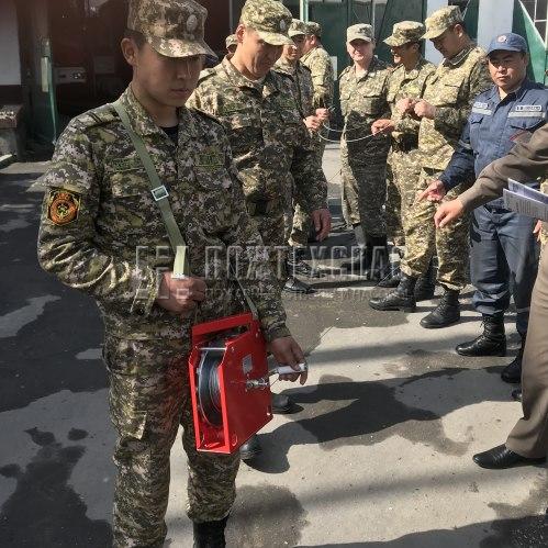 Демонстрация работы катушки ГДЗС производства Пожтехспас