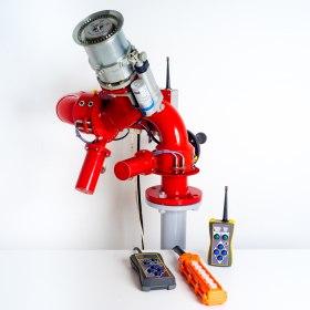 Лафетный пожарный ствол ЛСД-С60У с дистанционным управлением