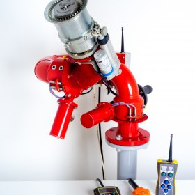Лафетный пожарный ствол ЛСД-С40У с дистанционным управлением